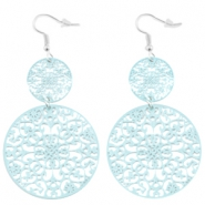 Dreamcatchers oorbellen Aquamarine blue