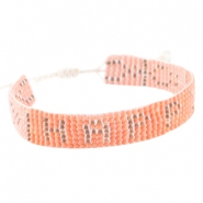 "Trendy beach armbandje ""happy"" Coral pink"