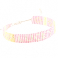 "Trendy beach armbandje ""lucky"" Roze"