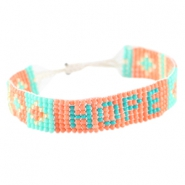 "Trendy beach armbandje ""hope"" Coral"