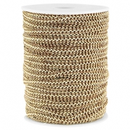 Fashion wire plat 5mm Bruin-goud