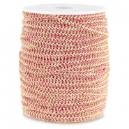 Fashion wire plat 5mm Fuchsia-goud