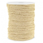 Fashion wire plat 5mm Beige-goud