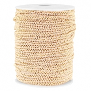 Fashion wire plat 5mm Nude beige-goud