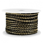 Fashion wire 4mm Zwart-goud