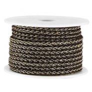 Fashion wire 4mm Donker bruin-goud
