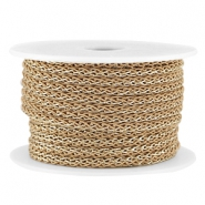 Fashion wire 4mm Licht bruin-goud