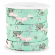 Trendy koord 10mm plat Mint groen