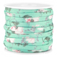 Trendy koord 5mm plat Mint groen