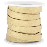 Plat trendy Jean-Jean koord 10mm Golden beige