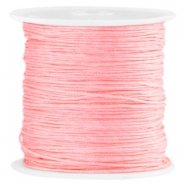 Satijn Macramé draad 0.8mm Bright rose peach
