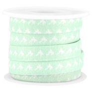 Trendy koord 10mm plat Light turquoise