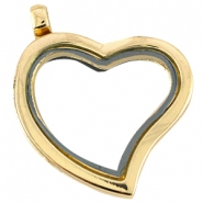 Floating Charm locket/medaillon hart Goud