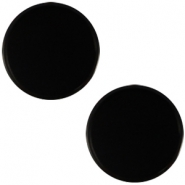 Cabochon Polaris plat 12mm Mosso shiny Black