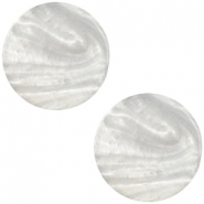 Cabochon Polaris plat 12mm Mosso shiny Silver shade