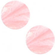 Cabochon Polaris plat 12mm Mosso shiny Pastel coral pink