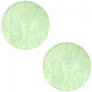 Cabochon Polaris plat 12mm Mosso shiny Pastel green