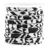 Koord Aztec 6x4mm White black