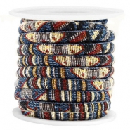 Koord Aztec 6x4mm Multicolor blue brown