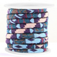 Koord Aztec 6x4mm Multicolor light blue purple