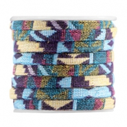 Plat Aztec 5mm Multicolor purple yellow