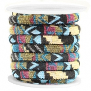 Koord Aztec 6x4mm Multicolor black yellow