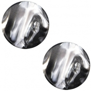Polaris cabochon Perseo plat 12mm Black silver
