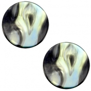 Polaris cabochon Perseo plat 12mm Antracite blue