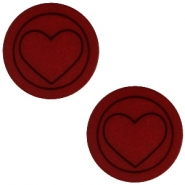 Polaris cabochon hart plat matt 12mm Port red