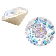 Swarovski Elements puntsteen SS39 (8mm) Crystal white patina