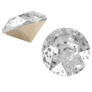 Swarovski Elements puntsteen SS39 (8mm) Crystal silver patina