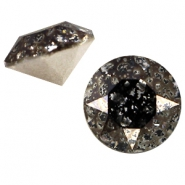 Swarovski Elements puntsteen SS39 (8mm) Crystal black patina