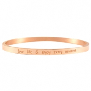 Armband quote thin Rose gold
