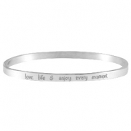 Armband quote thin Zilver