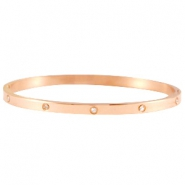 Diamonds armband stainless steel Rose gold