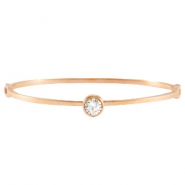 Diamond armband stainless steel Rose gold