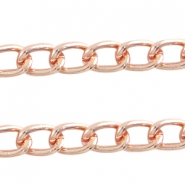Basic quality schakel ketting 14x9mm Rose gold