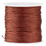 Satijn Macramé draad 0.8 mm Brown
