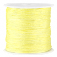 Satijn Macramé draad 0.8 mm Tender yellow