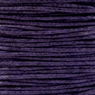 1.0mm Waxkoord Dark Purple