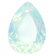 Hanger in druppelvorm  18x25mm Light blue turquoise opal