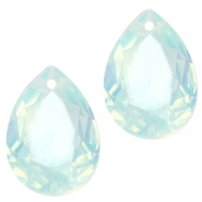 Hanger in druppelvorm  10x14mm Light blue turquoise opal