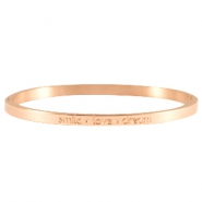 Armband quote thin Rosegold