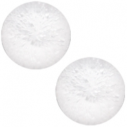 Polaris Cabochon Perseo matt crushed ice 12 mm White
