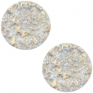 Polaris Cabochon Goldstein plat 12mm matt Sand beige