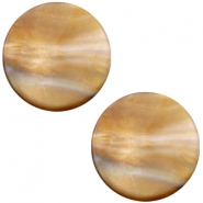 Polaris Cabochon Perseo plat 12mm matt Grey topaz