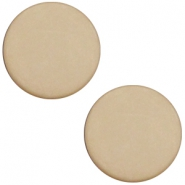 Polaris Cabochon plat 12mm matt Light taupe