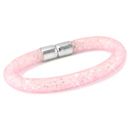 Kristal facet armband Light rose - crystal