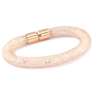 Kristal facet armband Rose gold - crystal