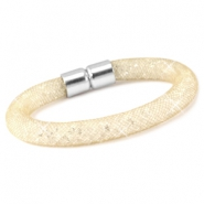 Kristal facet armband Champagne goud - crystal